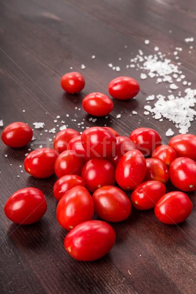 Tomatoes with salt Stock photo © Moradoheath