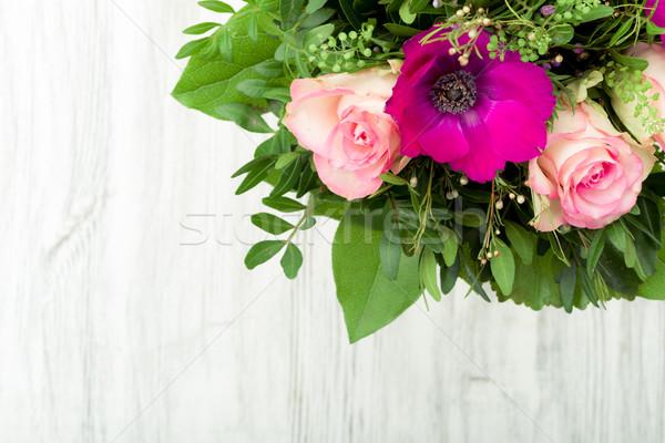 Bloemen boeket Pasen baby liefde hart Stockfoto © Moradoheath