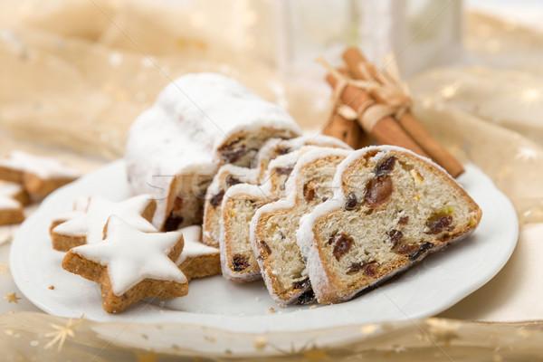 Stockfoto: Christmas · plaat · kaneel · sterren · winter