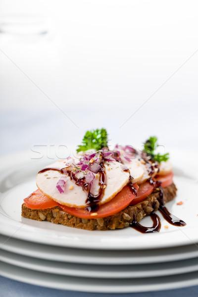Сток-фото: куриная · грудка · хлеб · свежие · сэндвич · Blur