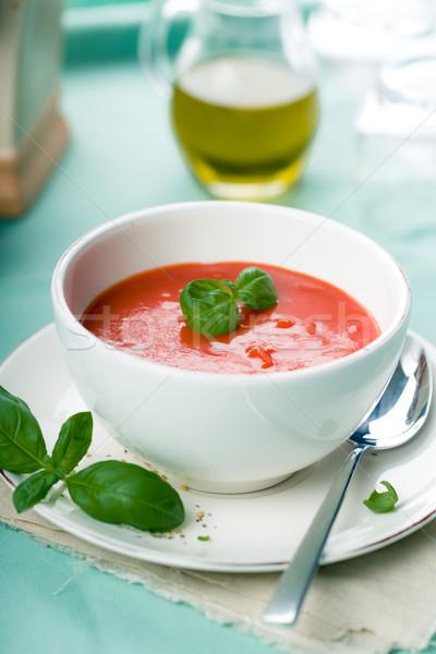 トマトスープ 新鮮な バジル 務め スパイス トマト ストックフォト © Moradoheath