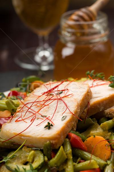 Marynowane wieprzowina warzyw miodu świeże zioła Zdjęcia stock © Moradoheath