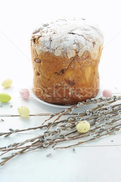 Páscoa ovos férias bolo salgueiro Foto stock © Moravska
