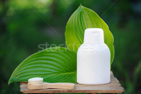 Spa treatment with natural creams and oils Stock photo © Moravska