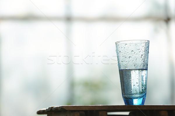 üveg hideg ásványvíz asztal ablak víz Stock fotó © Moravska