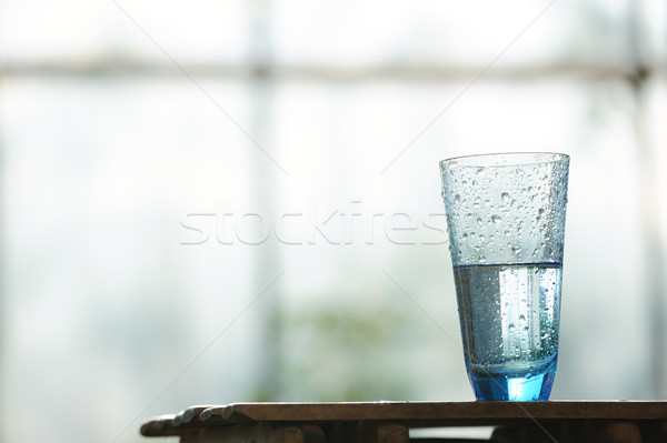 Glas koud mineraalwater tabel venster water Stockfoto © Moravska