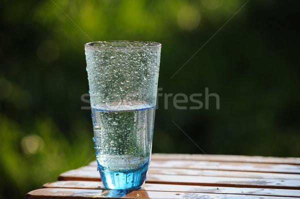 üveg hideg ásványvíz asztal természet víz Stock fotó © Moravska