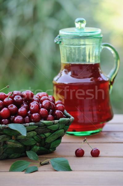 Frio beber cerejas maduro Foto stock © Moravska