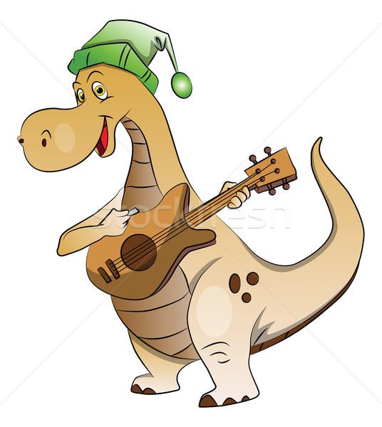 Vector dinosaurio jugando guitarra Foto stock © Morphart