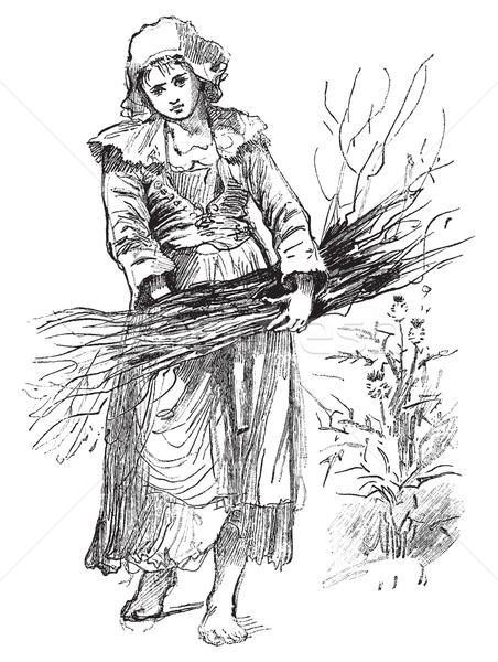 Breton servant, vintage engraving. Stock photo © Morphart