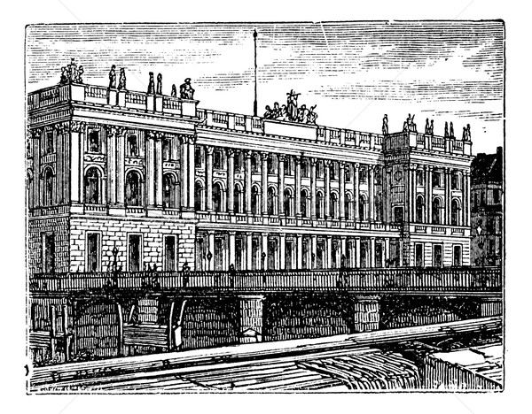 Berlin Stock Exchange vintage engraving, 1890s. Stock photo © Morphart