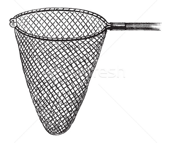 Shrimping Net, vintage engraving Stock photo © Morphart