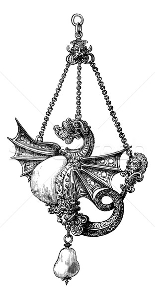Jewel of the sixteenth century, vintage engraving. Stock photo © Morphart