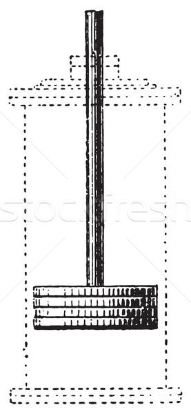 Piston bağbozumu oyma oyulmuş örnek sözlük Stok fotoğraf © Morphart