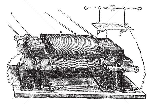 Ladd's Machine, vintage engraved illustration Stock photo © Morphart