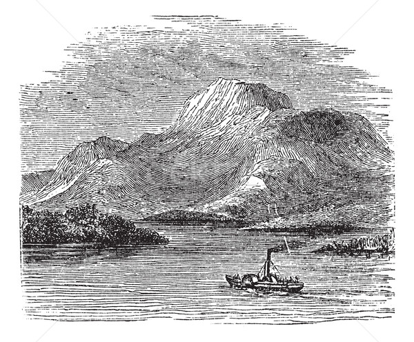 Loch Lomond on Highland Boundary Fault Scotland vintage engravin Stock photo © Morphart