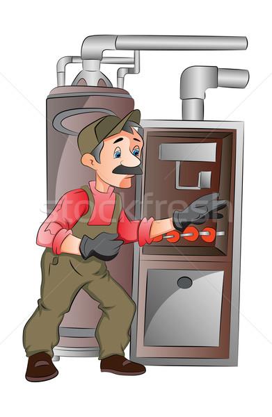 Maintenance Man, illustration Stock photo © Morphart