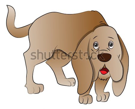 Vector of cute boxer dog sitting. Stock photo © Morphart