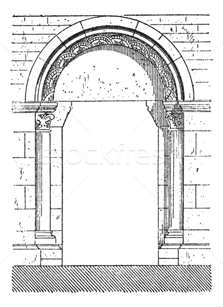 The gate of Beaune vintage engraving Stock photo © Morphart