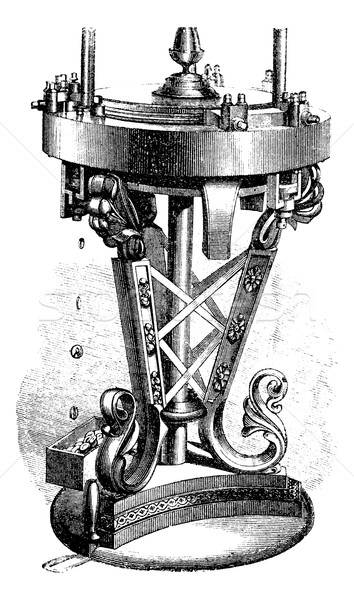Machine reel, vintage engraving. Stock photo © Morphart