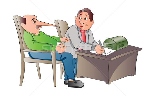 Człowiek fałszywy ilustracja papieru piśmie Zdjęcia stock © Morphart
