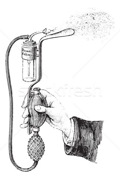 Tongue depressor spray, vintage engraving. Stock photo © Morphart