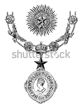 The pendant by Francois-Desire Froment vintage engraving Stock photo © Morphart