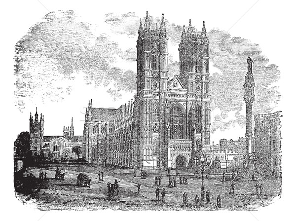 Westminster Abbey or Collegiate Church of St Peter in London En Stock photo © Morphart