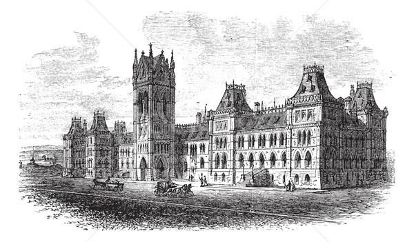Huis parlement Ottawa ontario Canada vintage Stockfoto © Morphart