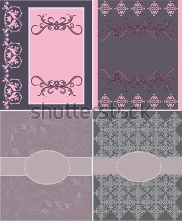 Set of four invitation card Stock photo © Morphart