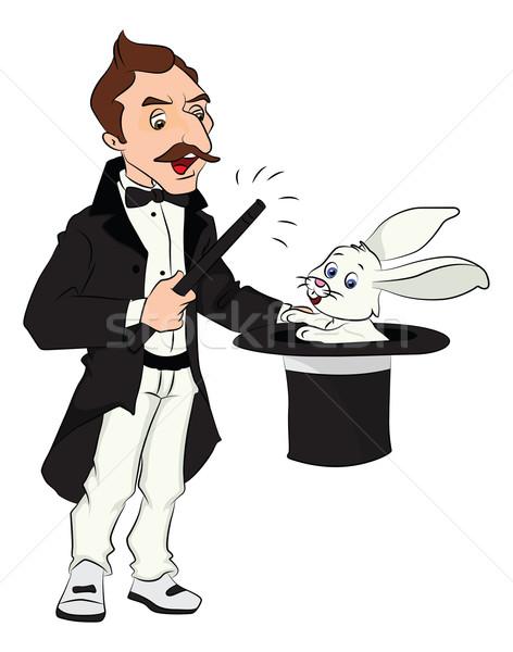 Wektora magik na zewnątrz królik Zdjęcia stock © Morphart
