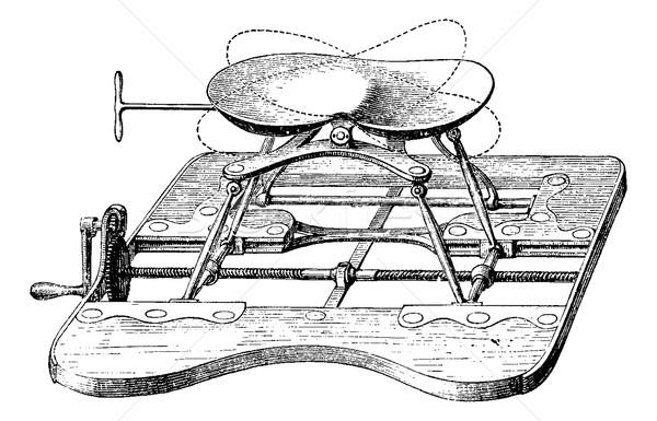 Apparátus ülés magas klasszikus lehetséges gravírozott Stock fotó © Morphart