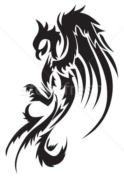 Tattoo ontwerp phoenix vintage gegraveerd Stockfoto © Morphart