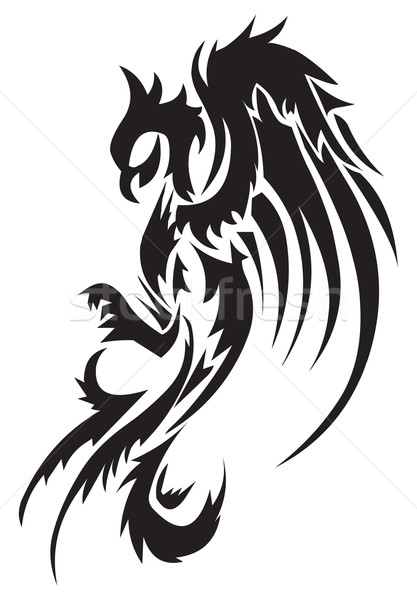 Tattoo design of phoenix, vintage engraving. Stock photo © Morphart