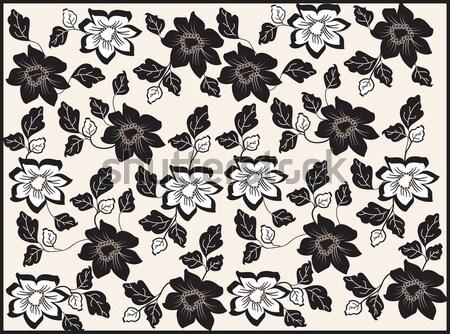Lentebloemen bruin bloem abstract blad achtergrond Stockfoto © Morphart