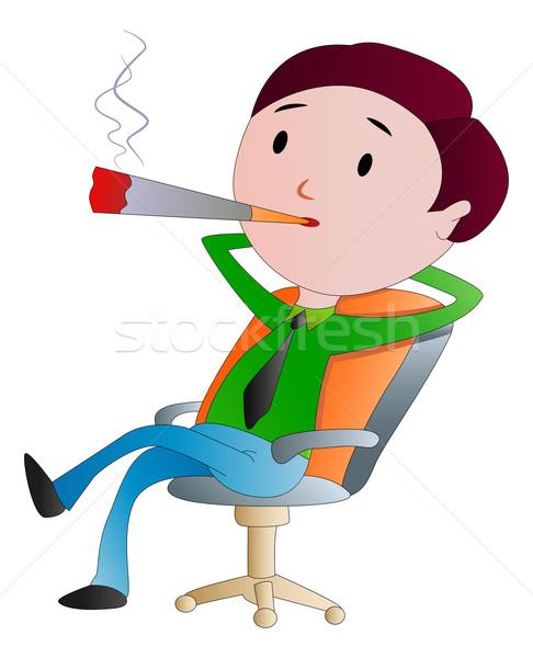 男 喫煙 たばこ 実例 シガー 男性 ストックフォト © Morphart