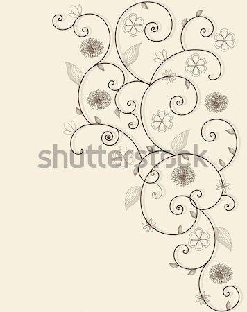 Klasszikus meghívó elegáns retro virágmintás terv Stock fotó © Morphart