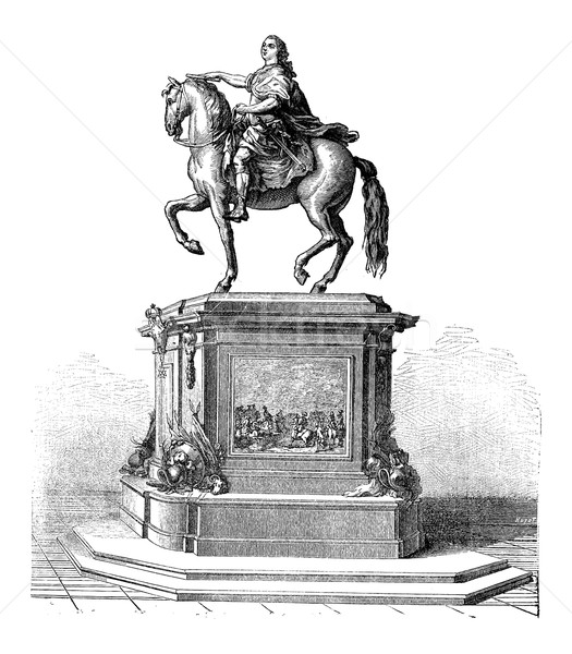 Bronzen standbeeld koning Frankrijk vintage Stockfoto © Morphart