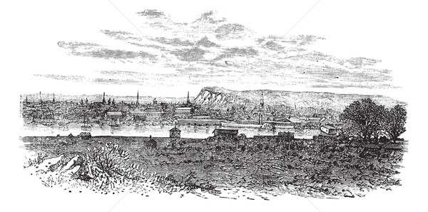 Newhaven in East Sussex, England, UK, vintage engraved illustrat Stock photo © Morphart