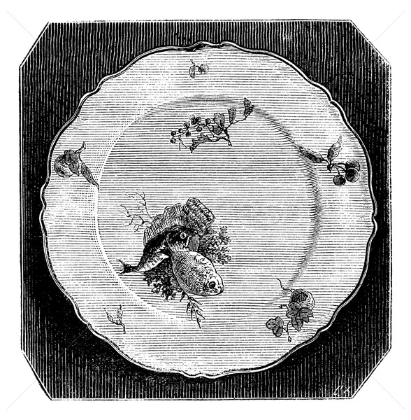 Plate of Marseille, vintage engraving. Stock photo © Morphart