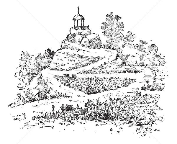 迷路 庭園 ヴィンテージ 彫刻 刻ま 実例 ストックフォト © Morphart