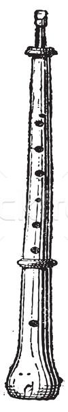 Piccolo Oboe or Piccoloboe, vintage engraving Stock photo © Morphart