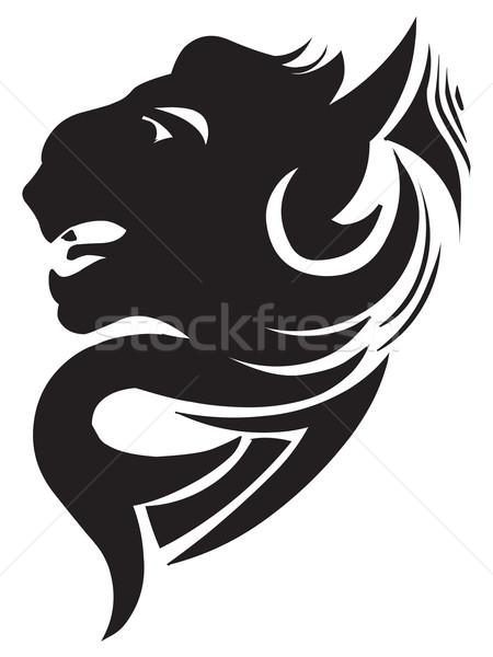 Panther голову татуировка дизайна Vintage Сток-фото © Morphart