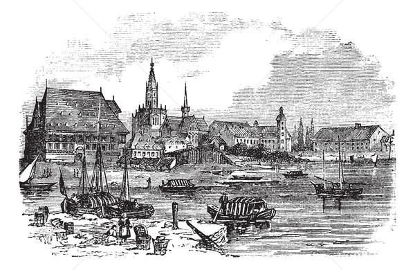 Konstanz in Baden-Wurttemberg, Germany, vintage engraving Stock photo © Morphart