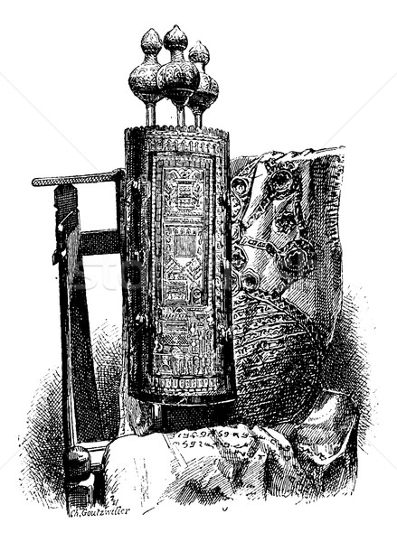 Torah, vintage engraving Stock photo © Morphart