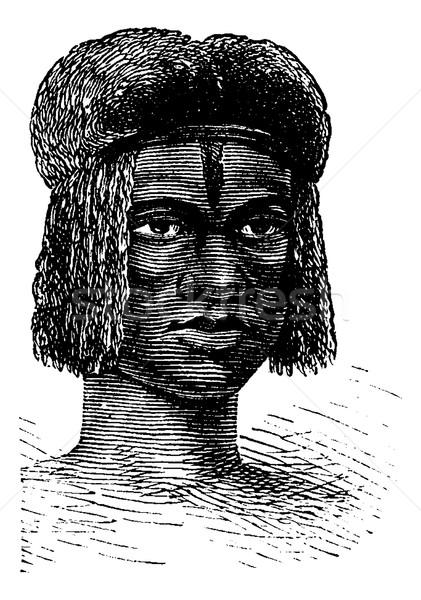 Zambo Female from Africa, vintage engraving Stock photo © Morphart
