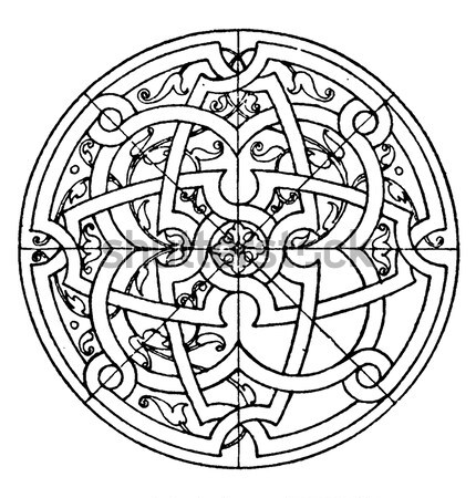 A celtic knot and pattern in a circle design Stock photo © Morphart