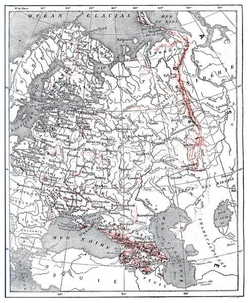 карта Россия Vintage иллюстрация Сток-фото © Morphart