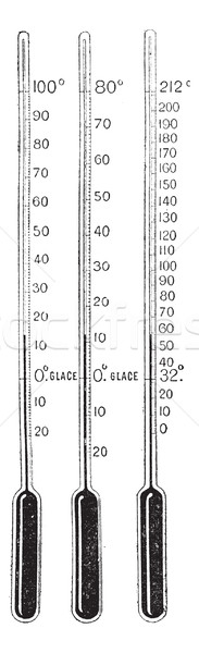 Thermometers, vintage engraving. Stock photo © Morphart