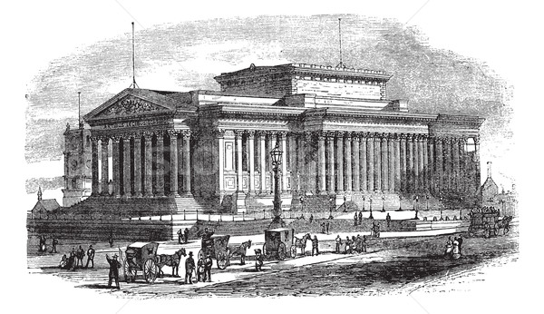 St George's Hall on Lime Street in Liverpool England vintage eng Stock photo © Morphart